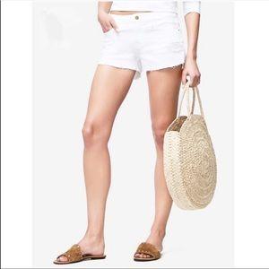 Frame Denim White Le Cutoff Blanc Rookley Shorts
